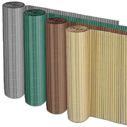 Casa Pura Recinzione Frangivista Giardino - Canniccio Frangivento In PVC Anti-Muffa | Vari Colori E 7 Misure - Grigio | 150X500 Cm