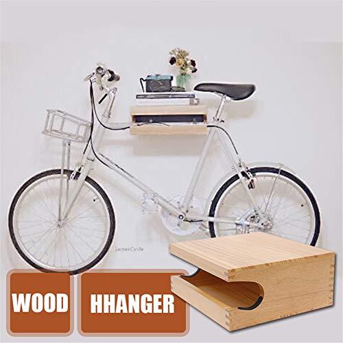 YOCAPE Holz Fahrradständer Fahrradrahmen Fahrradaufbewahrung Wandhalterung Aufhänger Fahrrad MTB Straße Vertikale Ständer Halter Fahrrad Haken Halter zum Innen Lagerung 20 kg