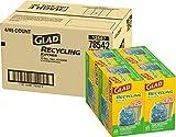 Glad Tall Kitchen Drawstring Recycling Bags - 13 Gallon Blue Trash Bag - 45 Count - 4 Box/Case (78542)