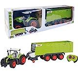 Happy People 34425 , Claas Traktor Axion 870 RC + Anhänger Cargos 9600