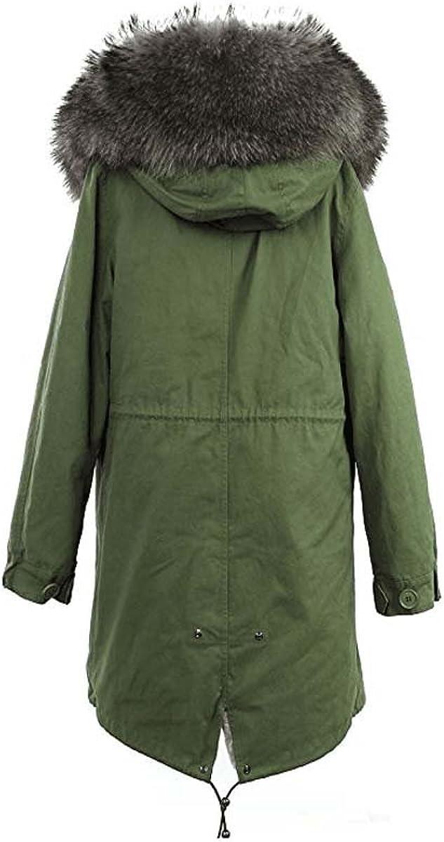 JAZZEVTER Kragen aus 100% ECHTPELZ ECHTFELL Jacke Mantel KURZ Khaki 8 Farben Armee-grün&armee-grün