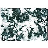 YANAIX Tapis de Bain,Abstrait Pierre Facette Nuances floues Image texturée Impression,Lavable de Haute qualité Absorbant Antidérapant 75X45cm