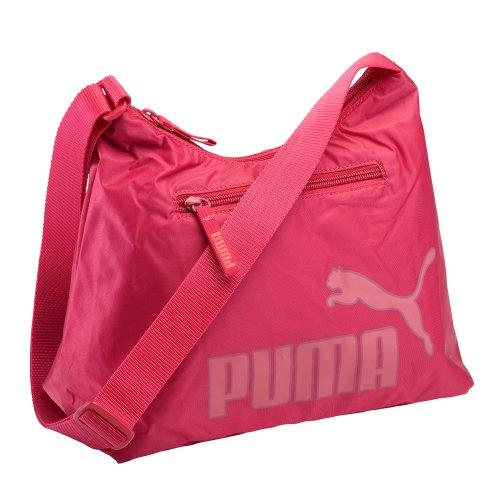 Puma - Bolso al Hombro para Mujer Rojo Cerise-Geranium Red UA