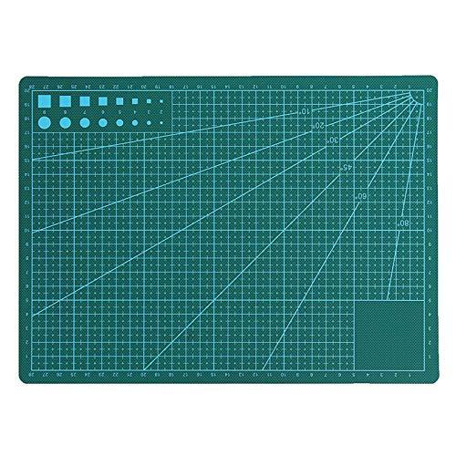 Alfombra de corte para superficie de marco impresa por autocuración de diseño de rejilla de corte A2/A3/A4 para costura de tejido, artesanía y artesanía, color verde