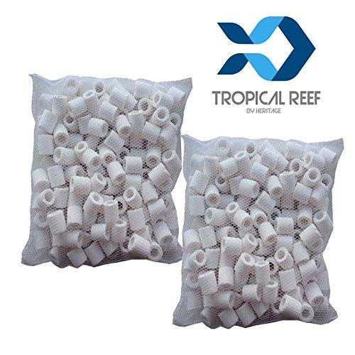 Tropical-Reef - Filtros de cerámica, filtro biológico para acuarios y peceras, bolsa de 500 g