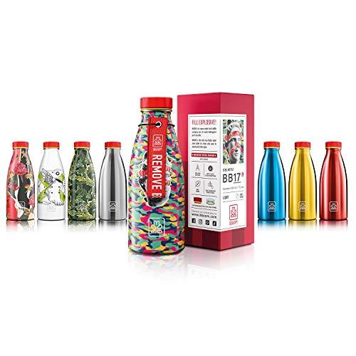 Bboom Bottiglia Acciaio Inossidabile Senza BPA | Borraccia Leggera e compatta | Ecologica e Durevole, a Prova di perdite (Apollo Mimetico)