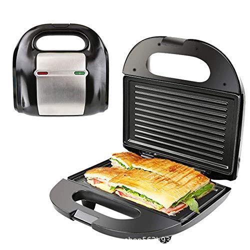750W sandwich fabricante, doble calefacción, raya curvada tortilla de pan waffle sandwich sandwich sandwich asill recubrimiento antiadherente fresco toque mango antideslizante pies