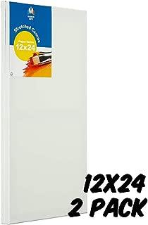 Markin Arts Vogue 系列瑞典松木酸/无色 * 纯棉中等重量 283.50 克三重钛亚克力石涂漆垂直水平拉伸帆布油画 30.48x60.96cm 白色 2 件装 CVV-1224-2P