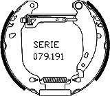 metelligroup 51-0160 Kit Prèmontès, Made in Italy, Kit Composé de 2 Mâchoires de Frein Prémonatées, Pièce de Rechange pour Voiture, Montage Facile, Rapide et Sûr