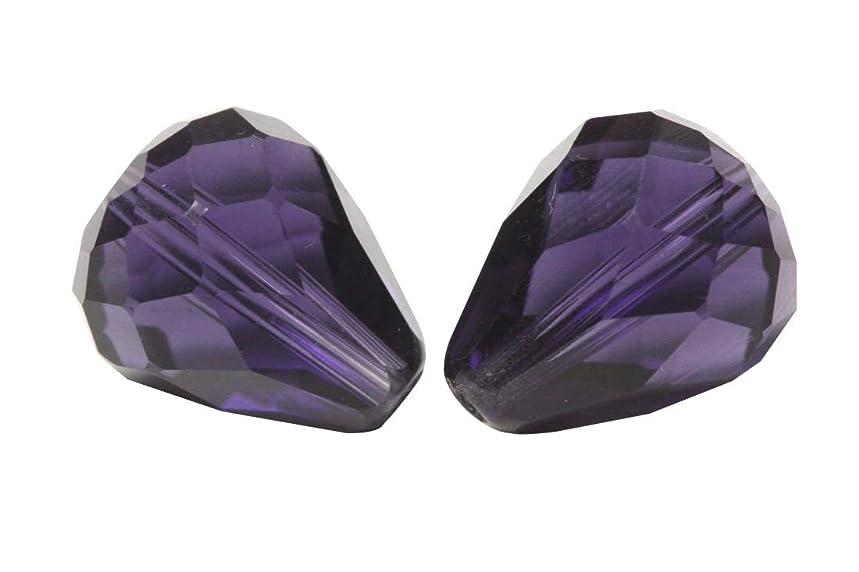 24pcs 8x6mm Adabele Austrian Teardrop Crystal Beads Purple Velvet Compatible with 5500 Swarovski Crystals Preciosa SST-827