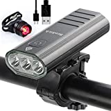 BenRich® Bike Light Set USB Rechargeable 3000 Lumens, Bicycle Cycling Headlight Cree XML-T6