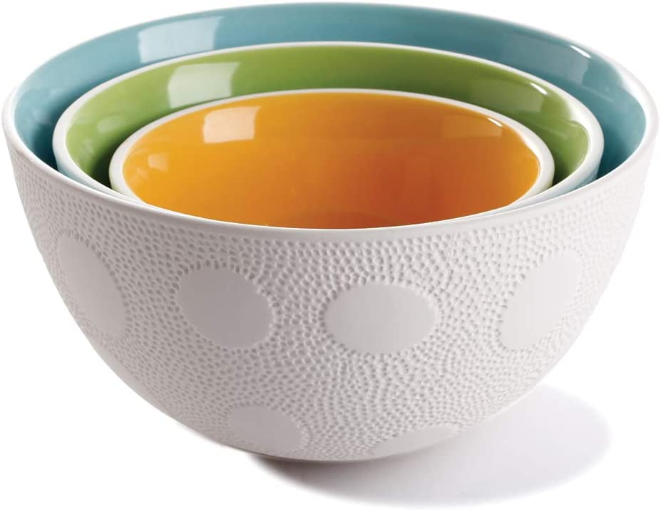 Maia Ming Designs Nesting textured S Colourful Cheap bargain 3-piece bowls Overseas parallel import regular item