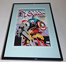Uncanny X-Men #268 Framed 11x17 Cover Display Official Repro Captain America
