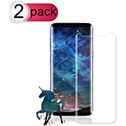 [2-Pack] Galaxy S8 Plus Screen Protector, Loopilops Tempered Glass Screen Protector [9H Hardness][Anti-Scratch][Anti-Bubble][3D Curved] [High Definition] [Ultra Clear] for Samsung Galaxy S8 Plus