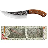 Agudo cuchillo Carnicero que deshuesa el cuchillo de acero inoxidable de cortado Slaughter cuchillos de carnicero Eviscerate Deboing cuchillo Tang completa (Color : 7 inch)