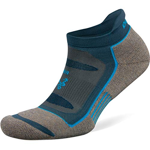 Balega Blister Resist No Show Socks For Men and Women (1 Pair), Mink/Legion Blue, Small