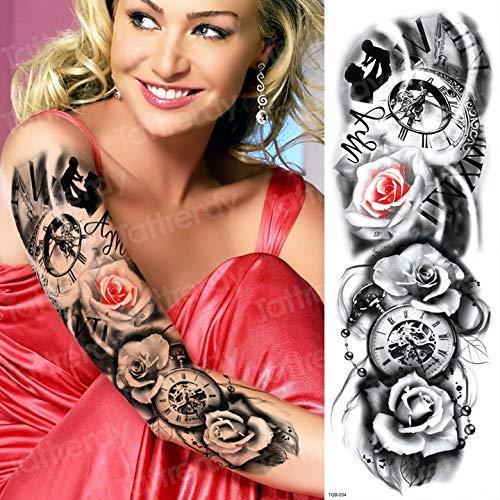 Handaxian Modèle de Manche de Tatouage de 3pcsmen Hommes Bras de Tatouage épaule Homme Art de Corps Tatouage Noir imperméable