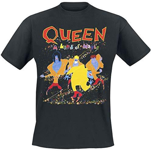 Queen A Kind of Magic Männer T-Shirt schwarz M 100{32fc858877553ee0bc494fdedf6a44dcb53415713c408845207a810e50c104c1} Baumwolle Band-Merch, Bands