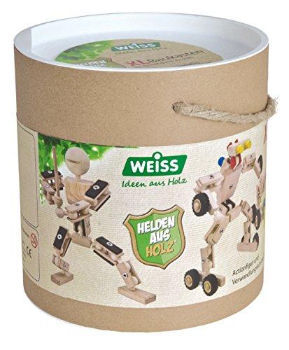 Weiss Natur Pur Kit XL de Construction de héros en Bois B110807 - (281 pièces)