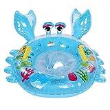 Baby Pool Float Kleinkinder Schwimmen Float aufblasbare Schwimmring Boot niedlichen Cartoon Tier Krabben Ring(Blau)