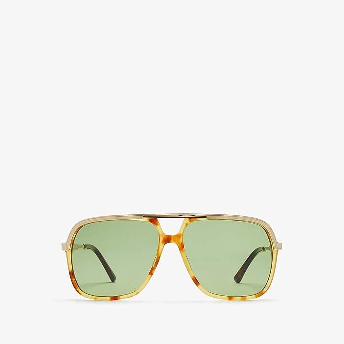 Gucci  GG0200S (Havana/Green) Fashion Sunglasses