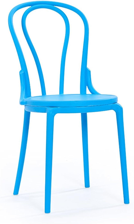 HZB Modern Creative Dining Chair, Home Minimalist Fashion Cafe, Leisure Backrest Plastic Chair