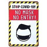 [ファン] Fun! ブリキ看板s コロナ対策 マスク着用 注意 ポスター サインプレート おしゃれ[ファン] Fun! ブリキ看板s コロナ対策 マスク着用 covid-19 ポスター サインプレート