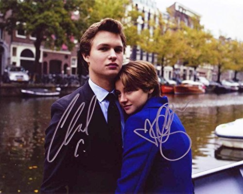 Fault in Our Stars Ansel Elgort & Shailene Woodley reprint signed photo RP #1