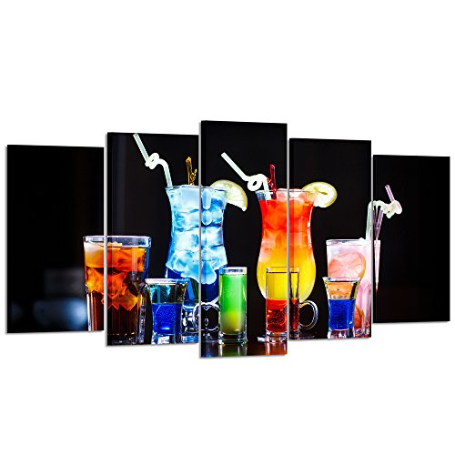 Kreative Arts - Large 5 Pieces Colorful Alcohol...