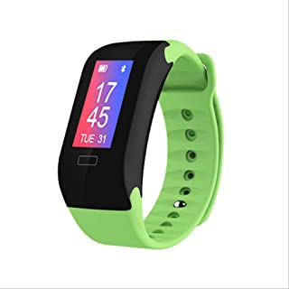 DWY Pulsómetros Smart Sports Pulsera Presión sanguínea Inteligente Blood Oxygen Heart Rate Bluetooth Contador de Pasos Health Monitoring Smart Bracelet (Color : Green)