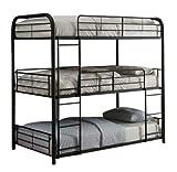 Best Triple Bunk Bed - Nadim Handicraft Black Metal Triple Twin Bunk Bed Review