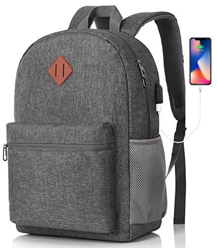 MARYARM Rucksack Damen und Herren,Schulrucksack Mädchen und Jungen Teenager Rucksack Schule für Uni Büro Reise,USB Ladeanschluss mit RFID Schutz