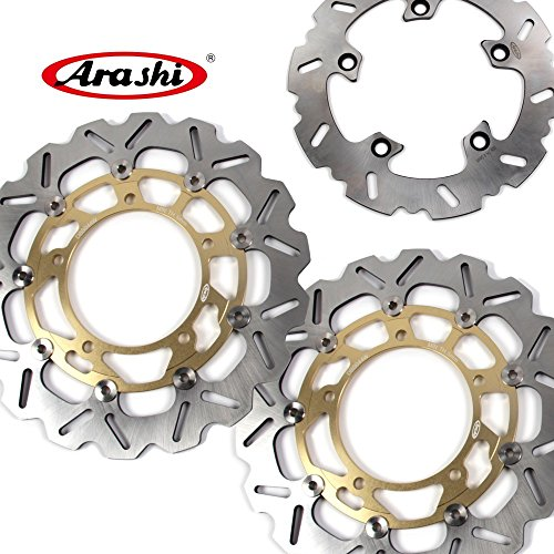 Arashi Rotores de disco de freno delantero trasero para GSF 650 BANDIT 2007-2012 Accesorios de repuesto para motocicletas GSF650 BANDIT650 GSX650F ABS GSF 1200 1250 dorado 2008 2009 2010 2011