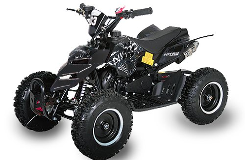 Mini ATV Quad Repti 6 inch banden miniquad kinderquad cross pocketquad zwart