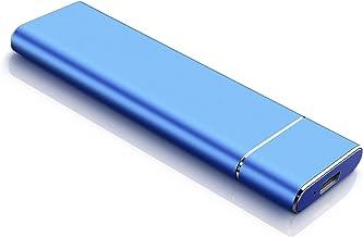 Disco Duro Externo USB 3.1 Disco Duro Externo para Mac, PC,MacBook, Chromebook, Xbox (2tb, Azul)