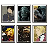 Uzumaki Naruto Manga Anime One Piece Demon Slayer Death Note Hero Academia Hunter X Hunter Lienzo para decoración del hogar, juego de 4