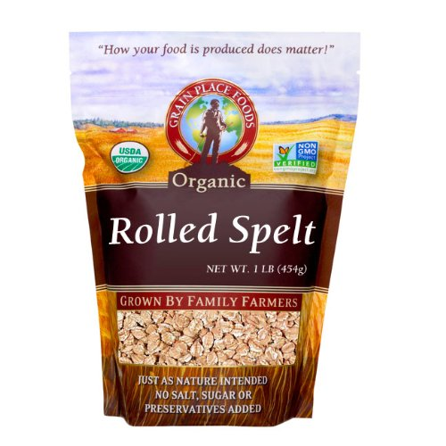 Grain Place Foods Non-GMO Organic Rolled Spelt 1lb Bag