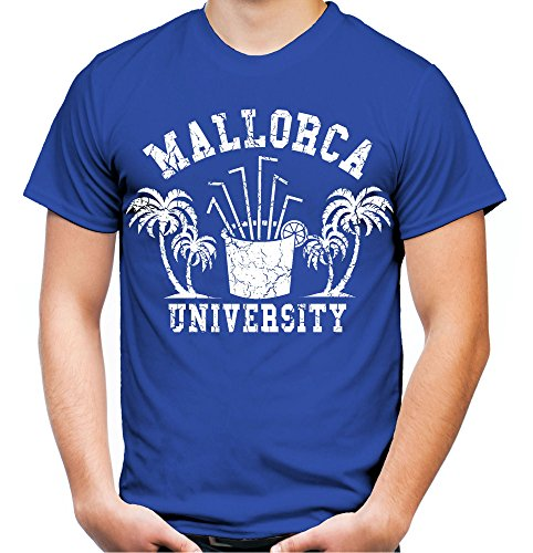 Mallorca University T-Shirt   Männer   Herren   Party   Urlaub   Sauf   Disco   Laune   Palma de Mallorca   Ballermann   Saufen   Kult (M, Blau)