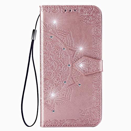 Funda de protección ultrafina para Motorola Moto Edge 20 Lite, diseño de mandala, color rosa