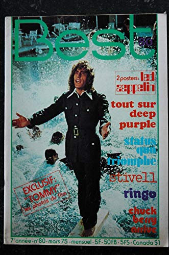 BEST 080 MARS 1975 DEED PURPLE STATUS QUO CHUCK BERRY SERGE GAINSBOURG + POSTERS ROBERT PLANT JIMMY PAGE