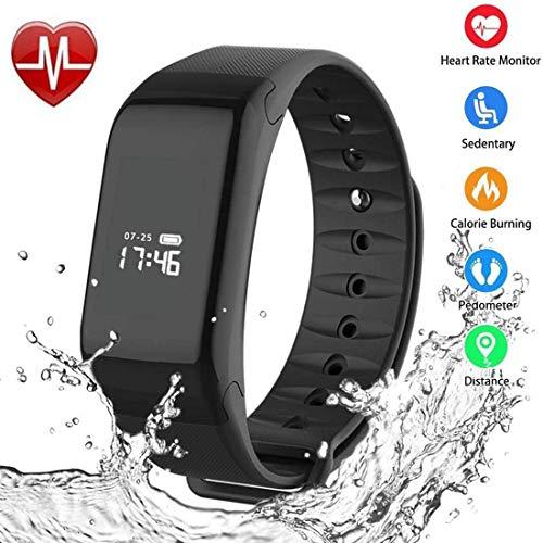 Foccoe Pulsera Inteligente Smartwatch,Pulsera Inteligentes Smart watch bluetooth Inteligente de Monitorización de la Salud ,contador de calorías, cronómetro, Pantalla OLED, sistema de seguimiento de la actividad