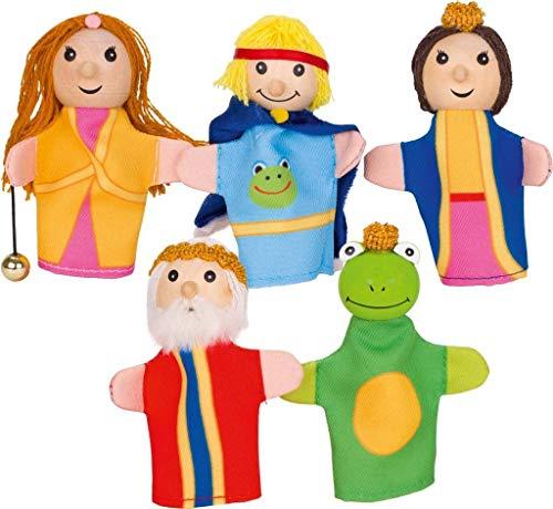 Goki - 51899 - Lot de 5 Marionnettes à Doigt - Le Roi des Grenouilles