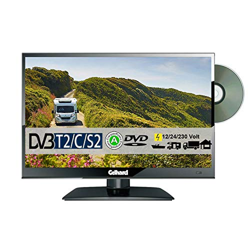 Gelhard GTV1682 DVD 16 Zoll Widescreen TV DVB-S2-T2 Full HD 12/24/230 Volt mit PVR-Funktion