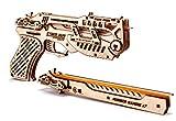 Wood Trick Cyber Gun 3D Wooden Puzzle - Rubber Band Gun Pistol -...