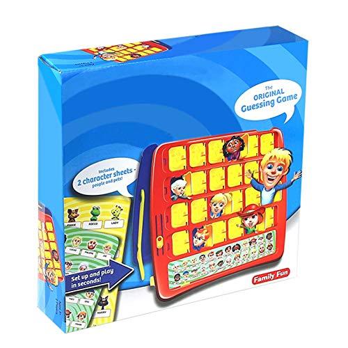 Alacritua Wer Ist Es Spiel Lustiges Aktualisiert Who is It Game Klassisches Brettspiel Ratespiele Wer Bin Ich Ratespiel Logische Desktop Spielzeug Ratespiele für Kinder