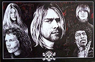 DEAD AT 27 POSTER Kurt Cobain - Jim Morrison - Janis Joplin - Jimi Hendrix RARE HOT NEW 24x36
