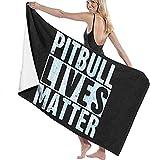 Lsjuee Toalla de baño de 80X130CM, Toallas de baño Pitbull Lives Matter Toallas de baño de Playa súper absorbentes para Toallas de Playa de Gimnasio
