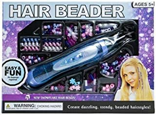 Hair Beader Accessory Craft Kit, for Create Dazzling Trendy Fun Easy Beaded Hairstyles