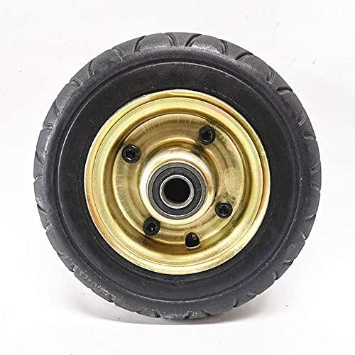 HTZ-M Neumáticos para Scooter eléctrico, Carrito de jardín de 8 Pulgadas/vehículo de ingeniería Neumáticos sólidos Antideslizantes Resistentes al Desgaste, Juego de Ruedas Completas, 200x60 Opcional,