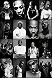 Credence Collections Legendry American Rapper Collage HD Poster 12 x 18 Inch